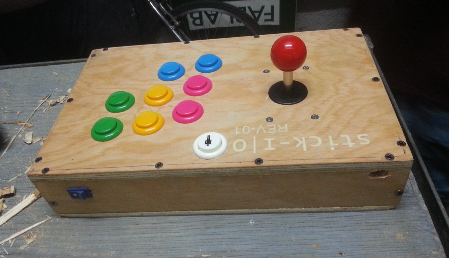 Stick-IO Arcade stick – HID Keyboard emulator