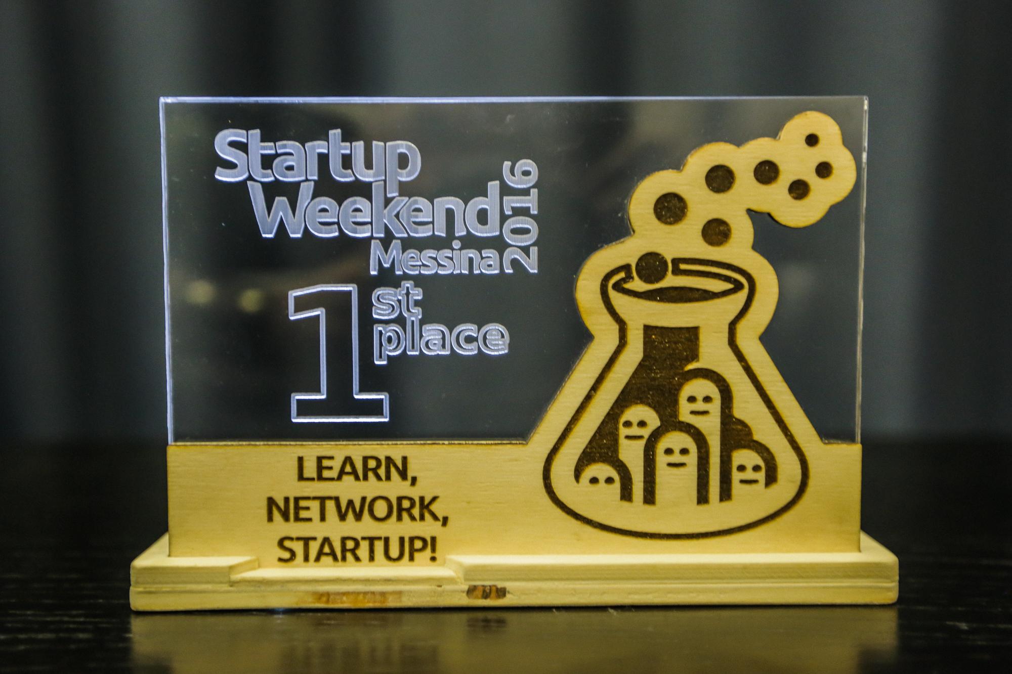 Startup Weekend Messina 2016 – Trofei