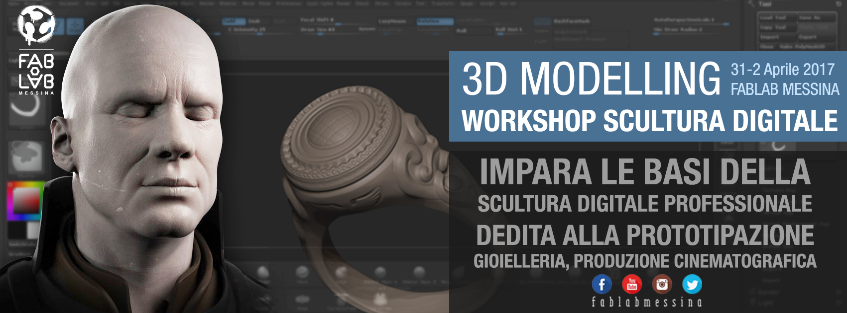 Workshop 3D Modelling – Scultura digitale