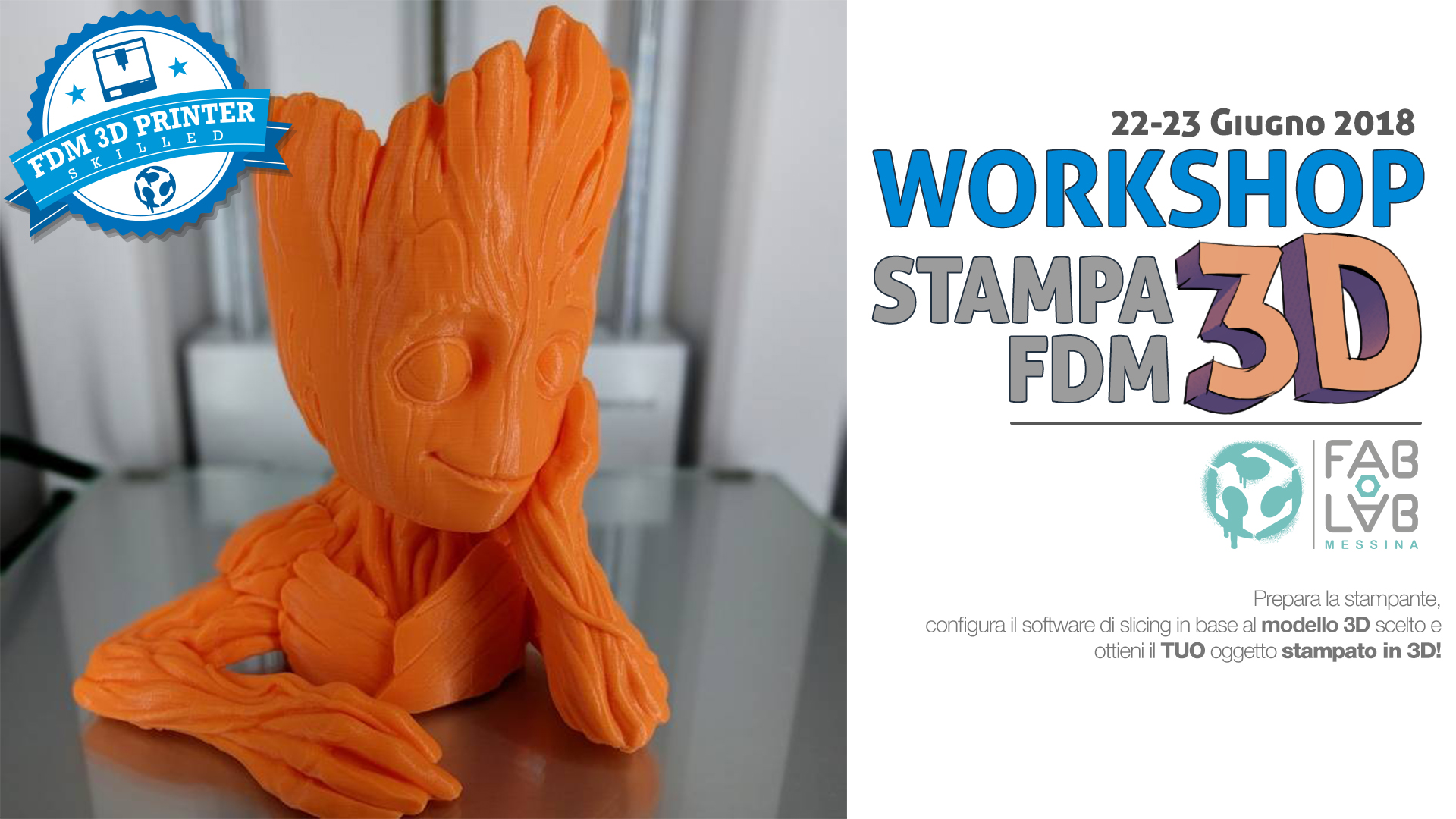 Workshop Stampa 3D fdm