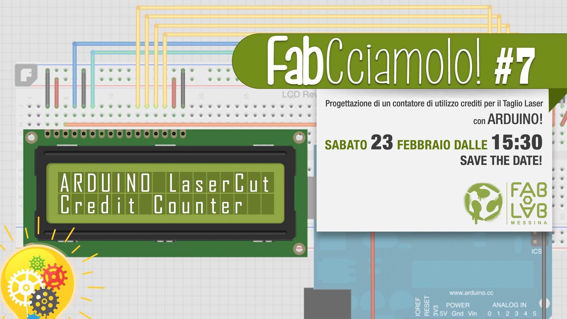 FabCciamolo!#7 ARDUINO Credit Counter