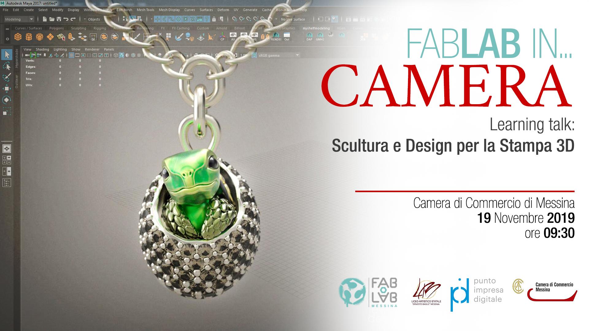 Fab Lab in Camera: Scultura e Design per la Stampa 3D