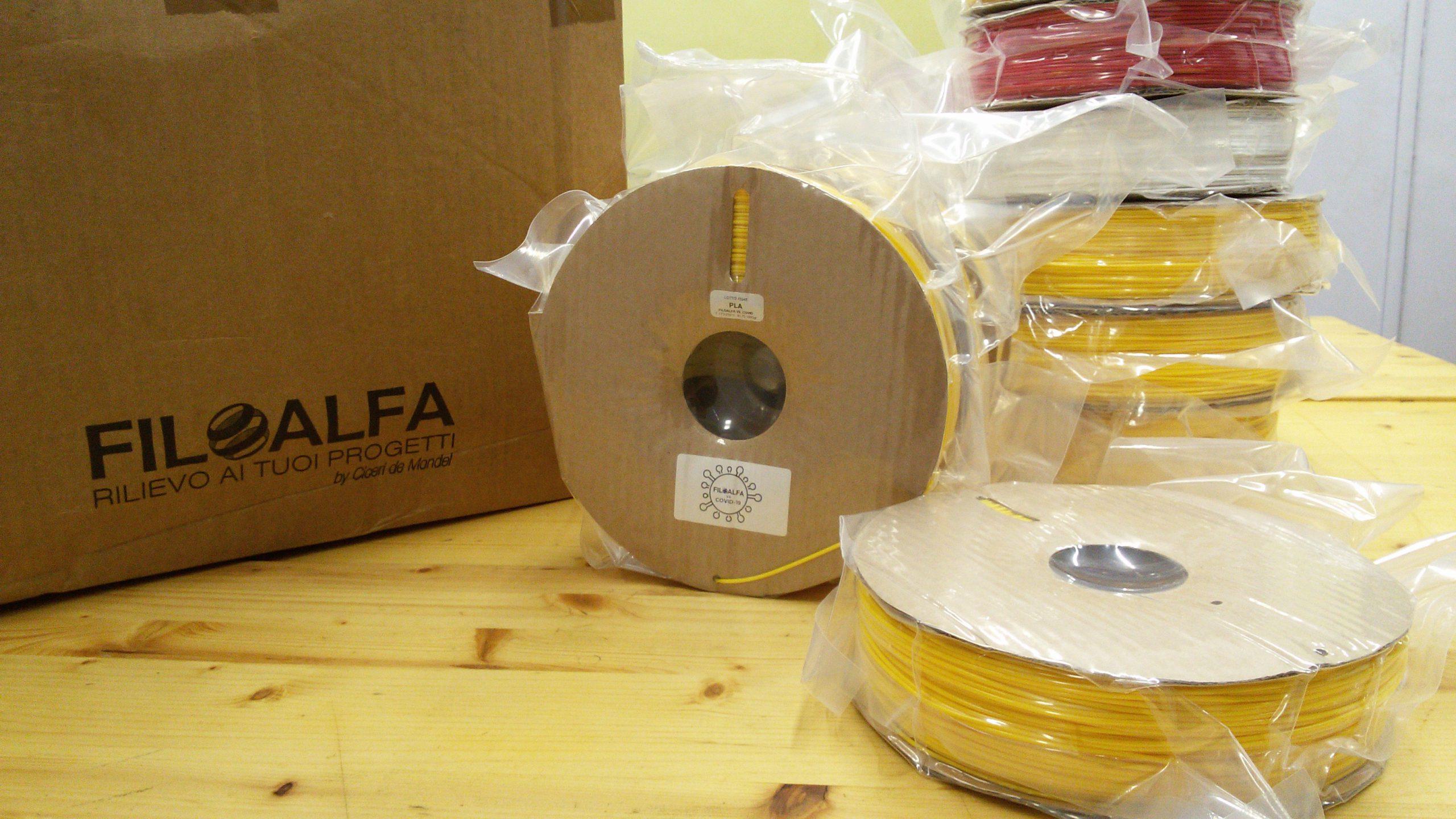 Bobina Sospesa: 10 bobine di PLA donate al Fab Lab.